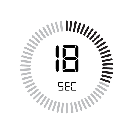 The 30 seconds icon, digital timer. clock and watch, timer, countdown symbol isolated on white background, stopwatch vector icon