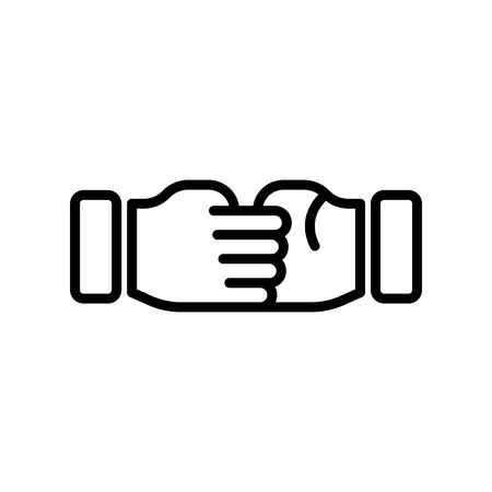 Hand shake icon vector isolated on white background for your web and mobile app design