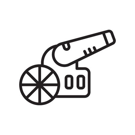 Canon icon vector isolated on white background for your web and mobile app design Vetores