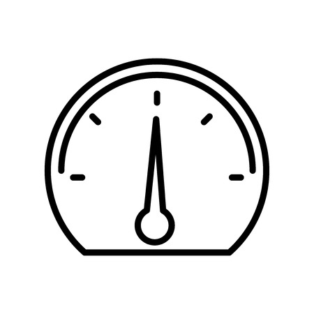 Speedometer icon vector isolated on white background for your web and mobile app design