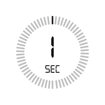 L'icona di 30 secondi, timer digitale. orologio e orologio, timer, simbolo del conto alla rovescia isolato su sfondo bianco, icona di vettore del cronometro
