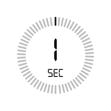 The 30 second icon, digital timer. clock and watch, timer, countdown symbol isolated on white background, stopwatch vector icon