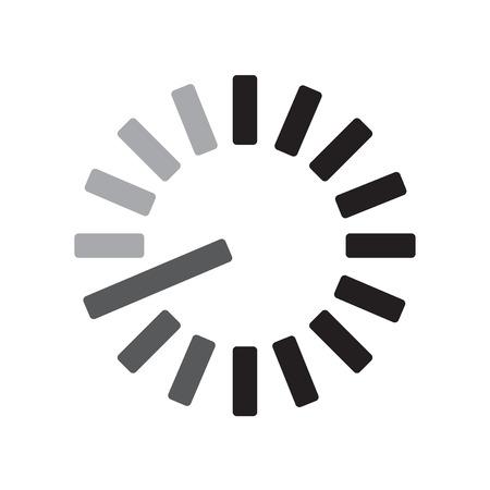 Vecteur d'icône de chargement isolé sur fond blanc pour la conception de votre application web et mobile