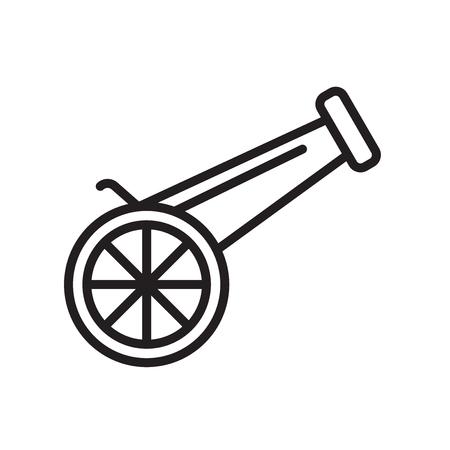 Vector icono de Canon aislado sobre fondo blanco para su diseño web y aplicaciones móviles