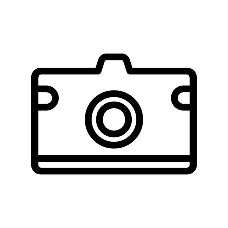 Photo camera icon vector isolated on white background for your web and mobile app design 写真素材 - 107408155