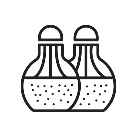 Salt and pepper icon isolated on white background for your web and mobile app design