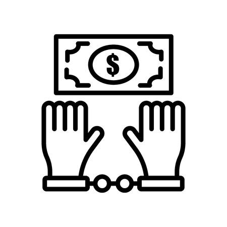 Bestechungsikonenvektor lokalisiert auf weißem Hintergrund für Ihr Web- und mobile App-Design, Bestechungslogo-Konzept