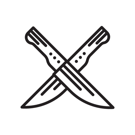 Knifes icon isolated on white background for your web and mobile app design Illustration
