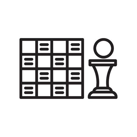Spielbrett-Symbolvektor lokalisiert auf weißem Hintergrund für Ihr Web- und mobiles App-Design, Spielbrett-Logo-Konzept