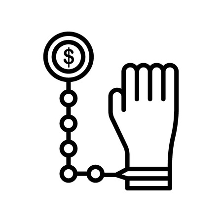 Bribe icon vector isolated on white background for your web and mobile app design, Bribe logo concept