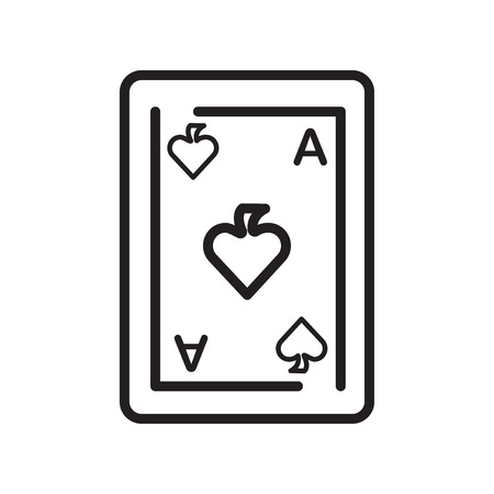 Ace of spades icon vector isolated on white background for your web and mobile app design, Ace of spades logo concept Ilustração