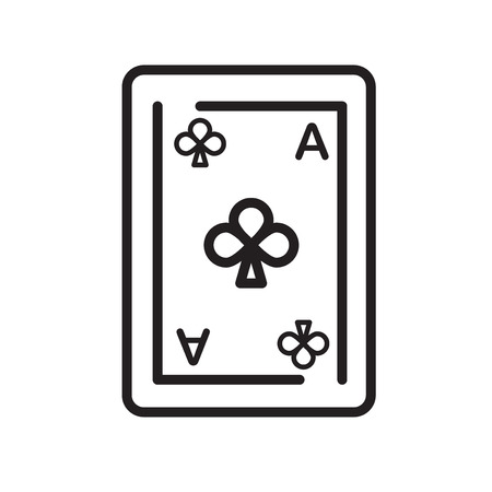Ace of clubs icon vector isolated on white background for your web and mobile app design, Ace of clubs logo concept
