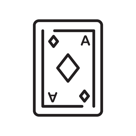 Ace of diamonds icon vector isolated on white background for your web and mobile app design, Ace of diamonds logo concept Çizim