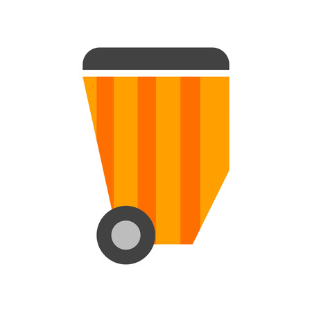 Garbage icon isolated on white background for your web and mobile app design Illustration