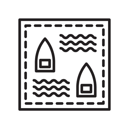 Battleship icon vector isolated on white background for your web and mobile app design, Battleship logo concept  イラスト・ベクター素材