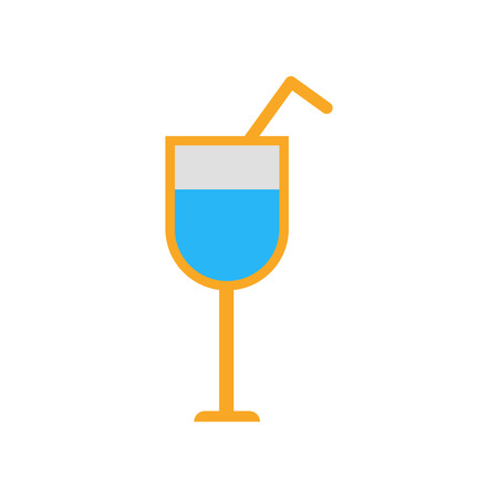 Cocktail icon isolated on white background for your web and mobile app design