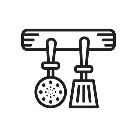 Küchenutensilien Symbol lokalisiert auf weißem Hintergrund für Ihr Web und mobile App Design