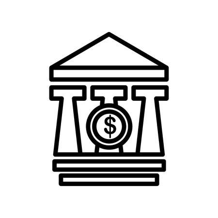 Bank icon vector isolated on white background for your web and mobile app design, Bank logo concept
