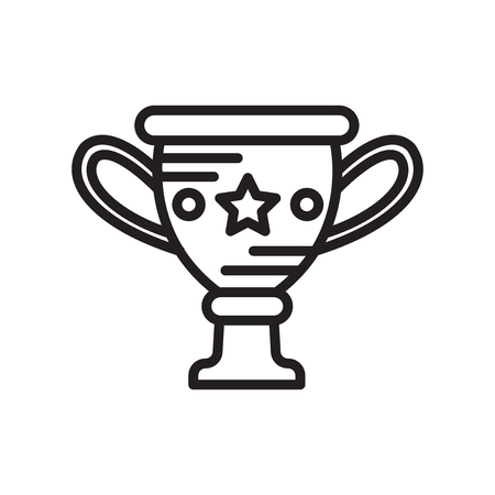 Vase icon isolated on white background for your web and mobile app design  イラスト・ベクター素材