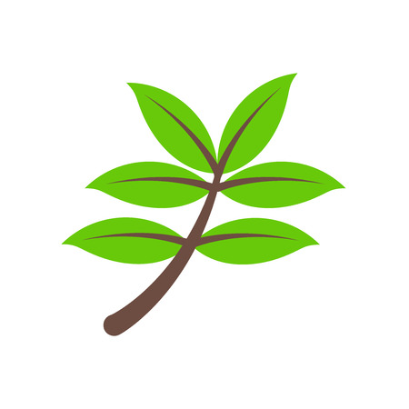 Herb icon vector isolated on white background for your web and mobile app design, Herb logo concept Illustration