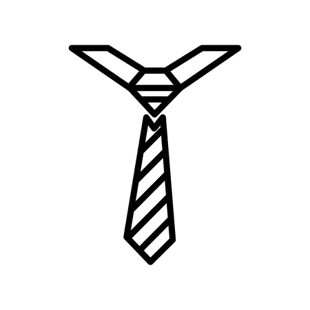 Tie icon isolated on white background for your web and mobile app design Illustration