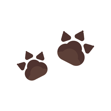 Pawprints icon vector isolated on white background for your web and mobile app design, Pawprints logo concept