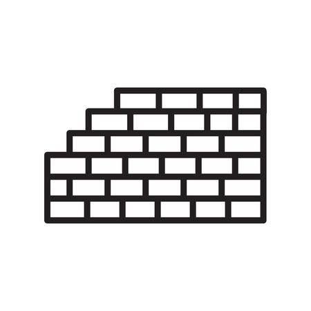 Bricks icon isolated on white background for your web and mobile app design 스톡 콘텐츠 - 107592056