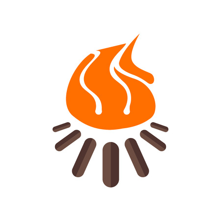 Bonfire icon vector isolated on white background for your web and mobile app design, Bonfire logo concept