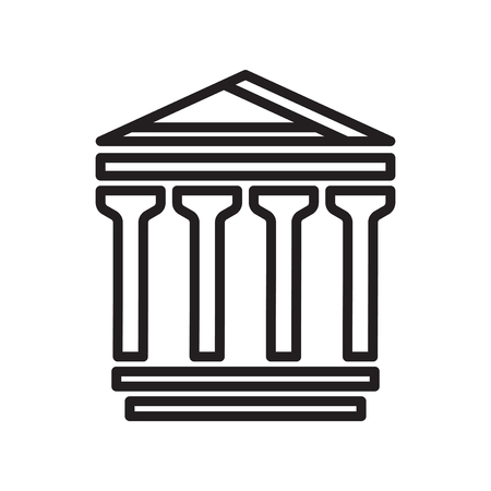 Pantheon icon isolated on white background for your web and mobile app design
