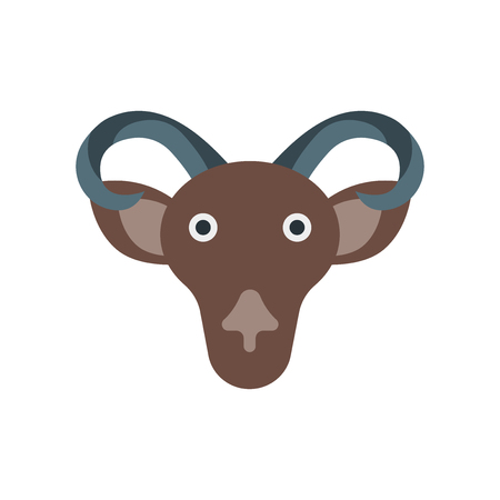 Mouflon icon vector isolated on white background for your web and mobile app design, Mouflon logo concept