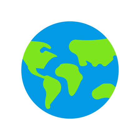 Earth globe icon vector isolated on white background for your web and mobile app design, Earth globe logo concept  イラスト・ベクター素材