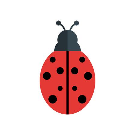 Ladybug icon vector isolated on white background for your web and mobile app design, Ladybug logo concept Logo