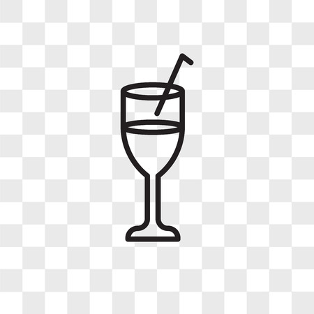 Beverage vector icon isolated on transparent background, Beverage logo concept