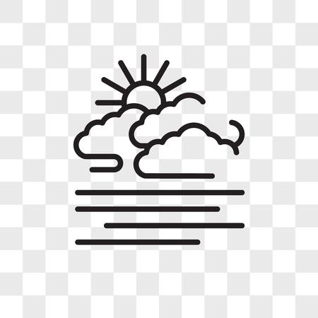 Icono de vector de Fogg aislado sobre fondo transparente, concepto de logo de Fogg