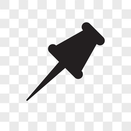 Push pin vector pictogram geïsoleerd op transparante achtergrond, Push pin logo concept