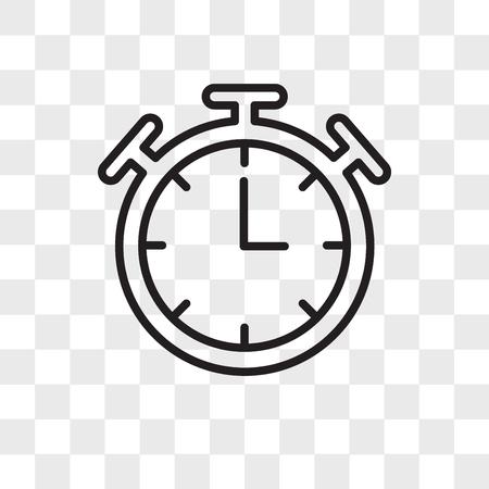 Icône de vecteur de minuterie isolé sur fond transparent, concept logo minuterie Logo