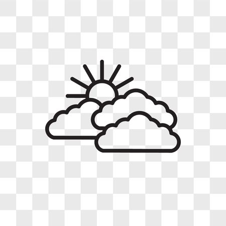 Sky vector icon isolated on transparent background, Sky logo concept 向量圖像