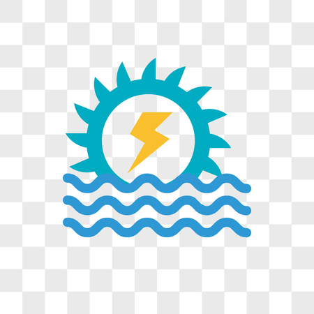 Hydro power vector icon isolated on transparent background, Hydro power logo concept
