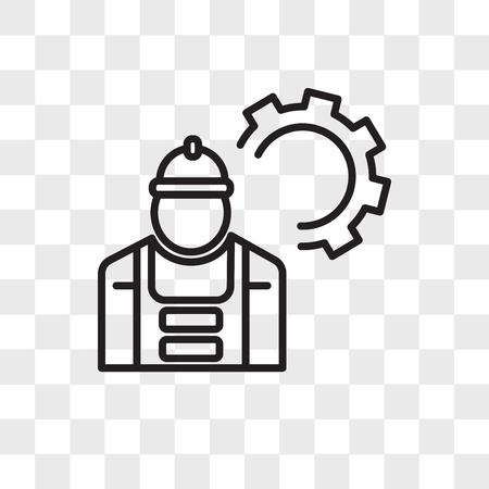 Mechanic vector icon isolated on transparent background, Mechanic logo concept Stock Illustratie