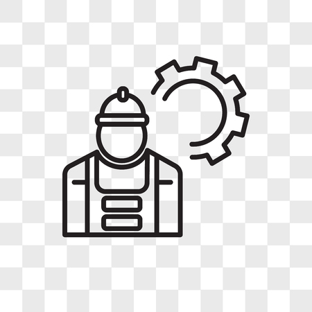 Mechanic vector icon isolated on transparent background, Mechanic logo concept Illustration