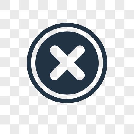 Icône de vecteur d'annulation isolé sur fond transparent, concept logo Annuler