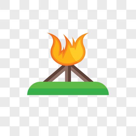 Bonfire vector icon isolated on transparent background, Bonfire logo concept Illustration