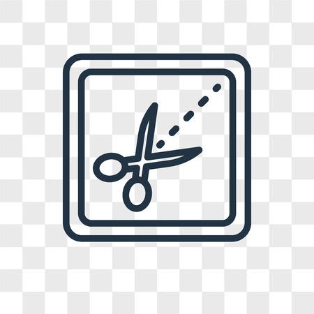 Scissors vector icon isolated on transparent background, Scissors logo concept Çizim