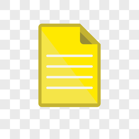 File vector icon isolated on transparent background, File logo concept 写真素材 - 107901402