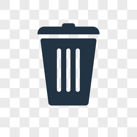Trash vector icon isolated on transparent background, Trash logo concept Illustration
