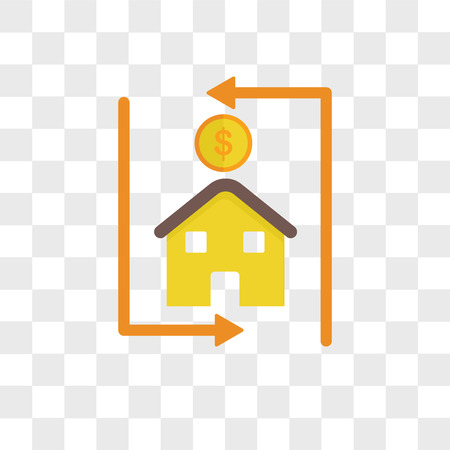 Mortgage loan vector icon isolated on transparent background, Mortgage loan logo concept