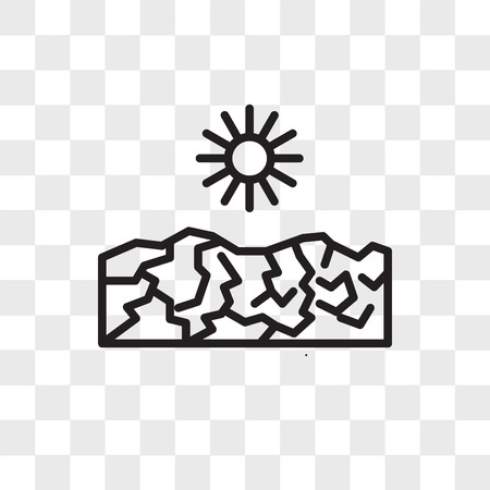 Drought vector icon isolated on transparent background, Drought logo concept