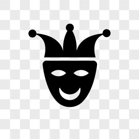 Joker face vector icon isolated on transparent background, Joker face logo concept