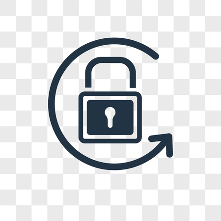 Lock vector icon isolated on transparent background, Lock logo concept