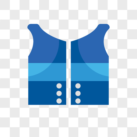 Vest vector icon isolated on transparent background, Vest logo concept